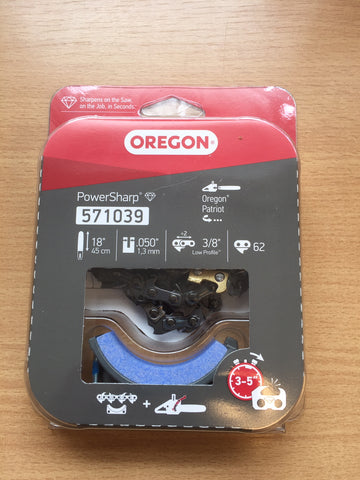 Oregon 571039  PowerSharp Chainsaw Chain & Grindstone Pack For OREGON CS1500 - 62 Drive Link