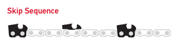 75EXJ135E / 75EXJ135 - Oregon PowerCut 75EXJ Skip Sequence Chainsaw Chain - 135 Drive Links