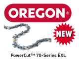 73EXL072E / 73EXL072 - Oregon PowerCut 73EXL Chainsaw Chain - 72 Drive Links