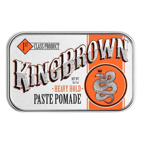 King Brown Heavy Hold Pomade 71g Hair Product - Solander & Banks