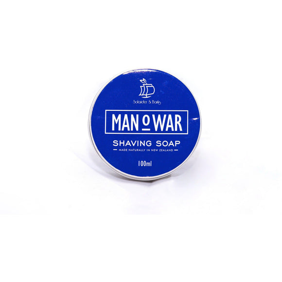 Man O War Shaving Soap - 100ml | By Solander & Banks - Solander & Banks