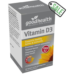 Vitamin D Good Health (120 Capsules) D3 Supplement 1000IU - Solander & Banks
