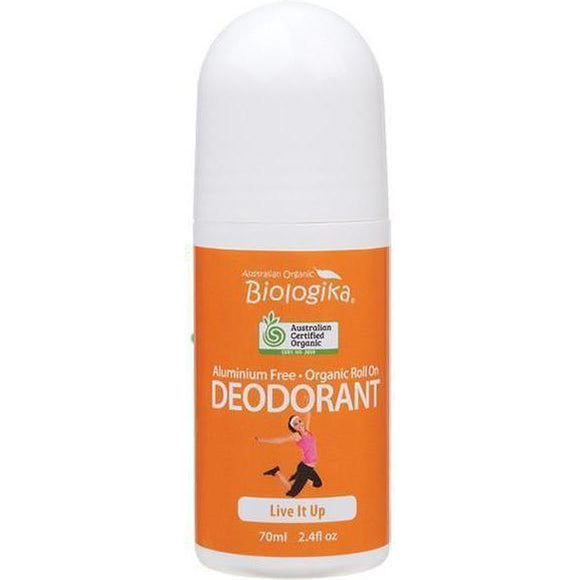 Live It Up Deodorant Roll On - 70ml | Australian Organic Bilogika - Solander & Banks