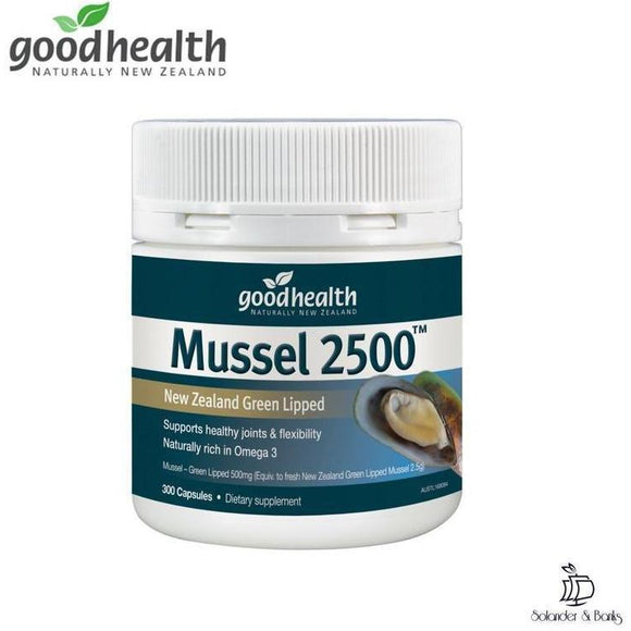New Zealand Green Lipped Mussel 2500™ - 300 tablets | Goodhealth Naturally New Zealand - Solander & Banks