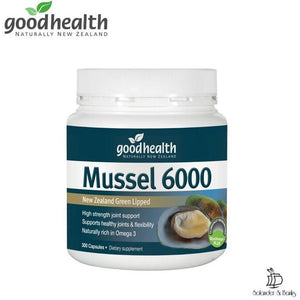 New Zealand Green Lipped Mussel 6000™ - 300 Tablets | Goodhealth Naturally New Zealand - Solander & Banks