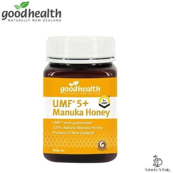 Manuka Honey UMF 5+ - 500g | Goodhealth Naturally New Zealand - Solander & Banks