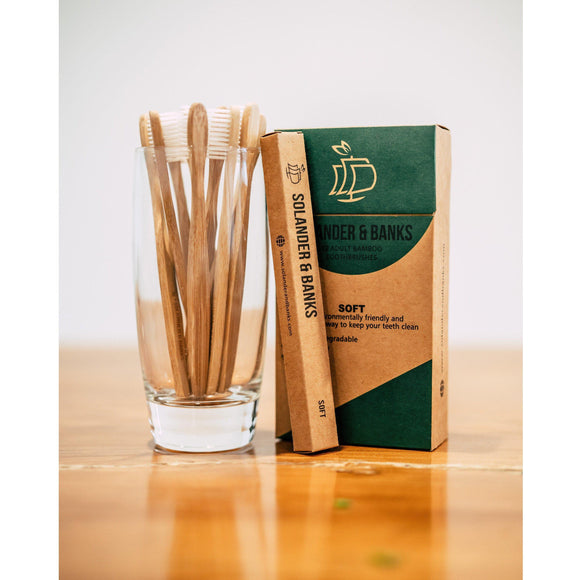 Bamboo Toothbrushes Soft Bristle 12 Pack - S&B Basics Range - Solander & Banks