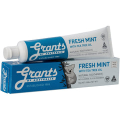 Grants of Australia Toothpaste Fresh Mint with Tea Tree Oil 110g No Fluoride Natural