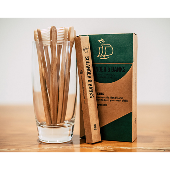 Kids Bamboo Toothbrush 12 Pack by Solander & Banks