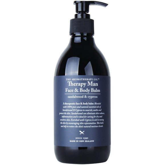 Sandalwood & Cypress Face & Body Balm - 500ml | Therapy Man - The Aromatherapy Co - Solander & Banks