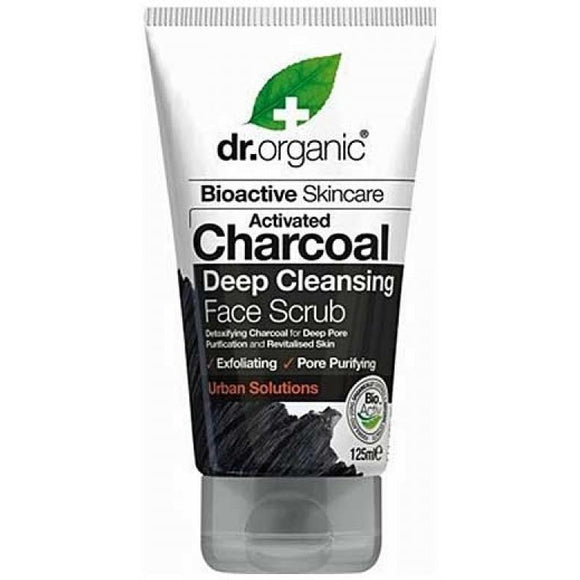 Charcoal Face Scrub 125ml Dr Organic - Solander & Banks