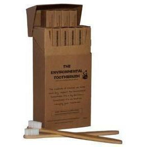 The Original Environmental Toothbrush 12 Pack (Adult Medium) Bamboo Toothbrush - Solander & Banks