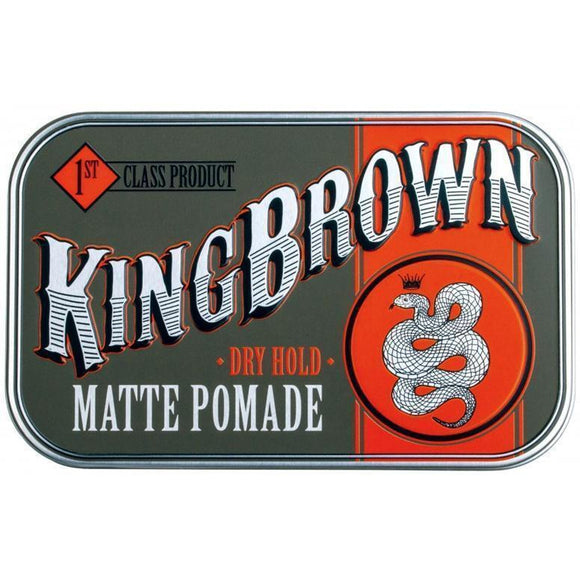 King Brown Matte Pomade 71g Hair Product - Solander & Banks