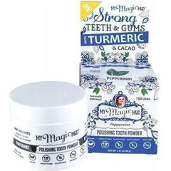 Peppermint with Turmeric & Cacao Polishing Tooth Powder 40g My Magic Mud