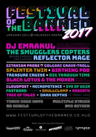 Festival of the Banned 2017 Poster