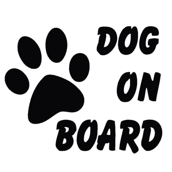 Dog on Board Reflective Sticker