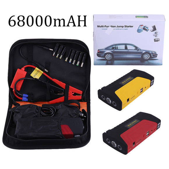 Portable Emergency Jump Starter Power Bank