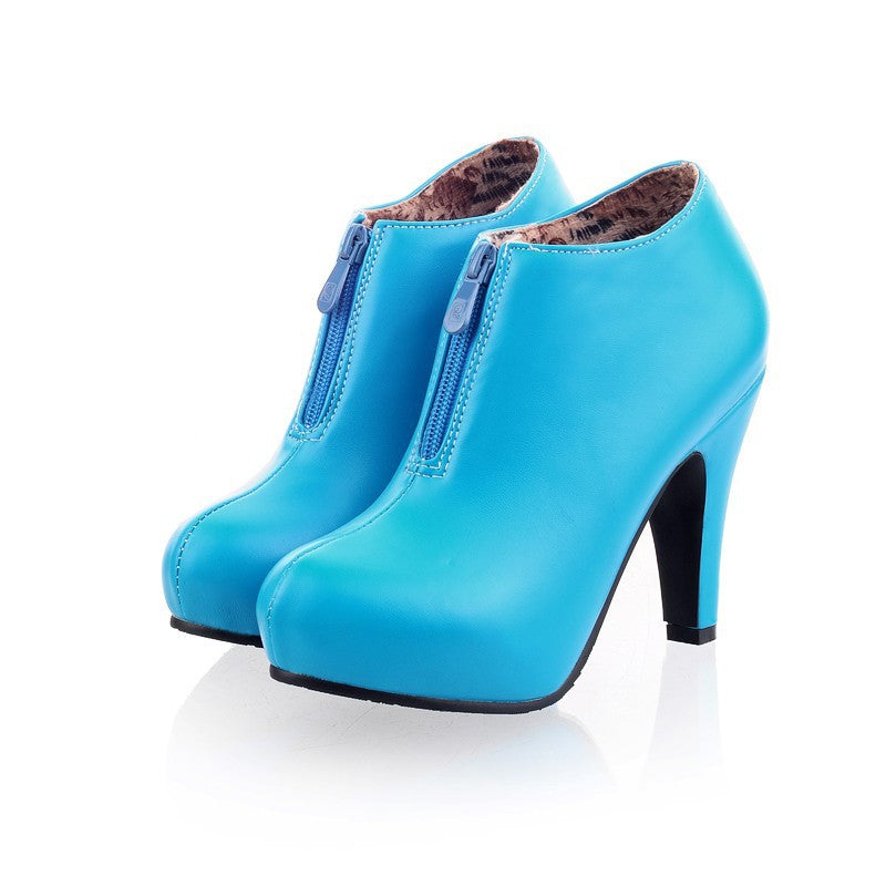 Trendy High Heel Ankle Boots