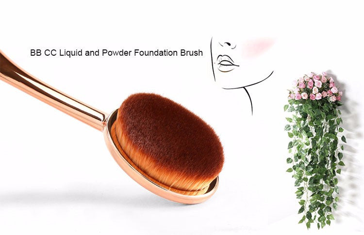 Foundation and highlighting Oval Makeup Brush