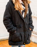 Cotton Padded Faux Fur Collar Parka
