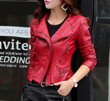 Short trendy leather jacket, leather jackets-kanndie, spring jackets