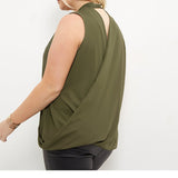 Sleeveless Choker Blouse, Plus size tops, Tops, Choker Blouse