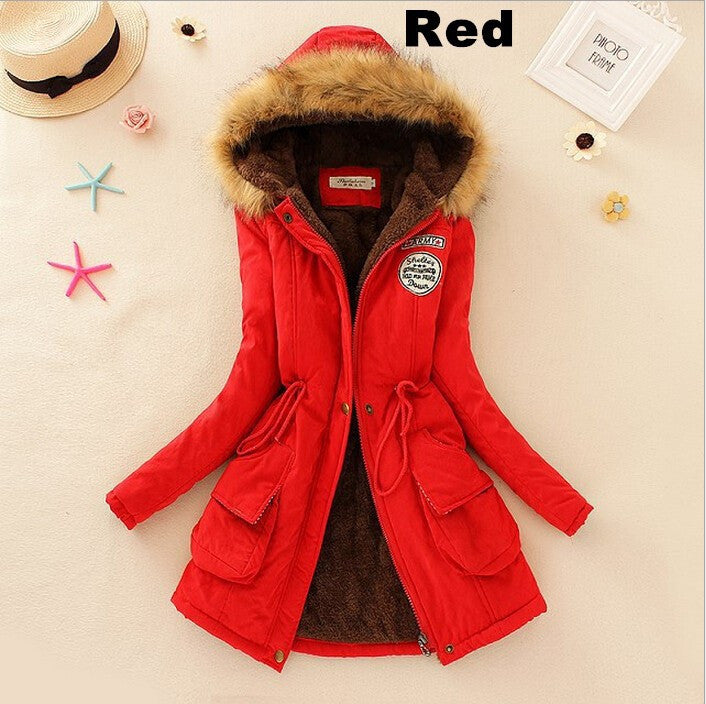 Down Winter Coat With Fur Collar