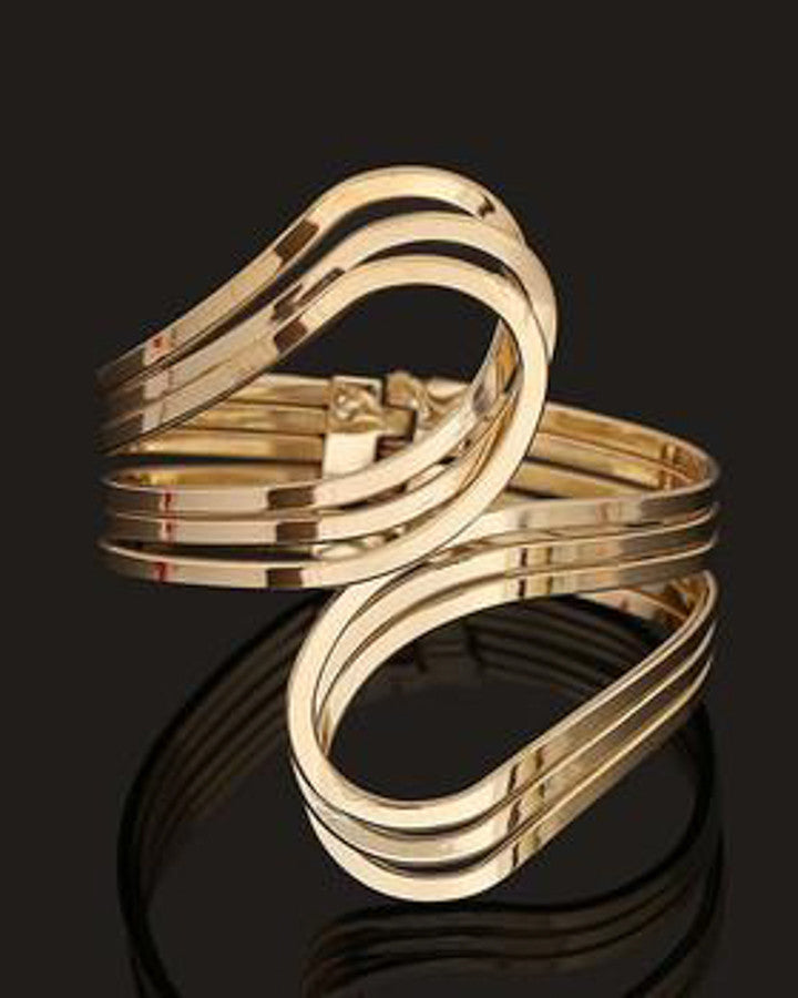 Gold-Silver-Punk-Hip-Hop-Bangles-Upper-Arm-Bracelet-for-Women-Costume-Statement-cuff-bracelet
