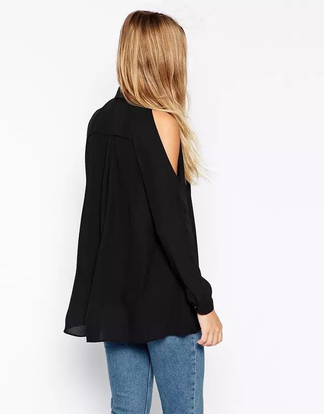 Cold shoulder loose fit shirt, cold shoulder tops, off the shoulder tops, Tops, off the shoulder blouse