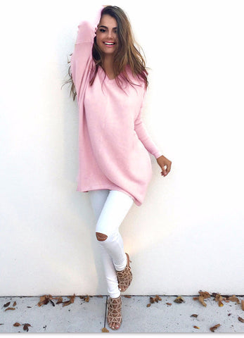 One Shoulder Lace Up Sleeve Sweater