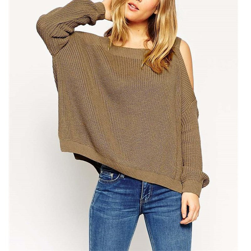 off the shoulder sweater, knit sweater, cut out sleeve sweater