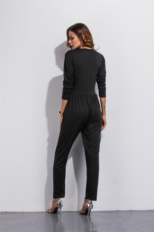 Black-Bodysuit-Long-Sleeves-V-Neck-Casual-Elegant-Ladies-jumpsuit-plunge-neckline-jumpsuit-playsuit-kanndie