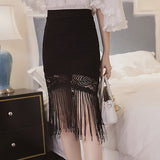 Tassel High Waist Skirt