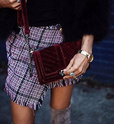 plaid-skirts-women-Elegant-tassels-Kanndie-high-waist-skirt-Cool-streetwear-Mini-Skirt