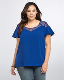 O-Neckline Short Sleeves Blouse