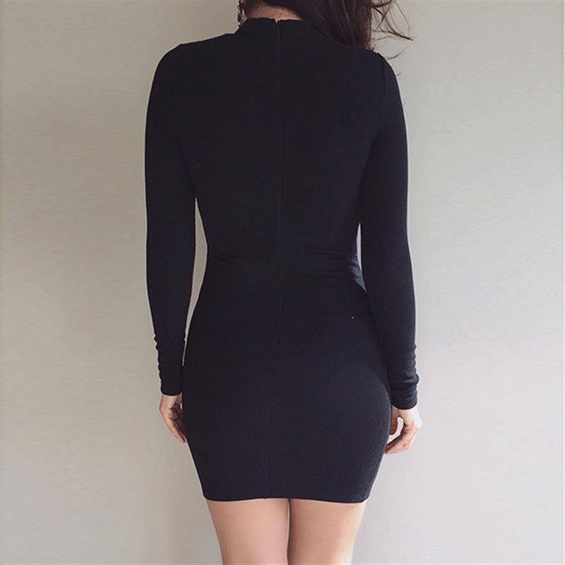 lace up bodycon mini dress, little black dress, Date night dress, Black Dress, Bandage Dress