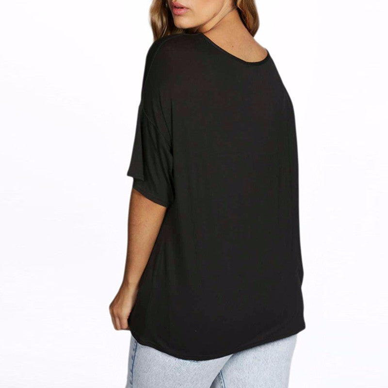 half sleeve print tee, t-shirts, plus size tops, tops