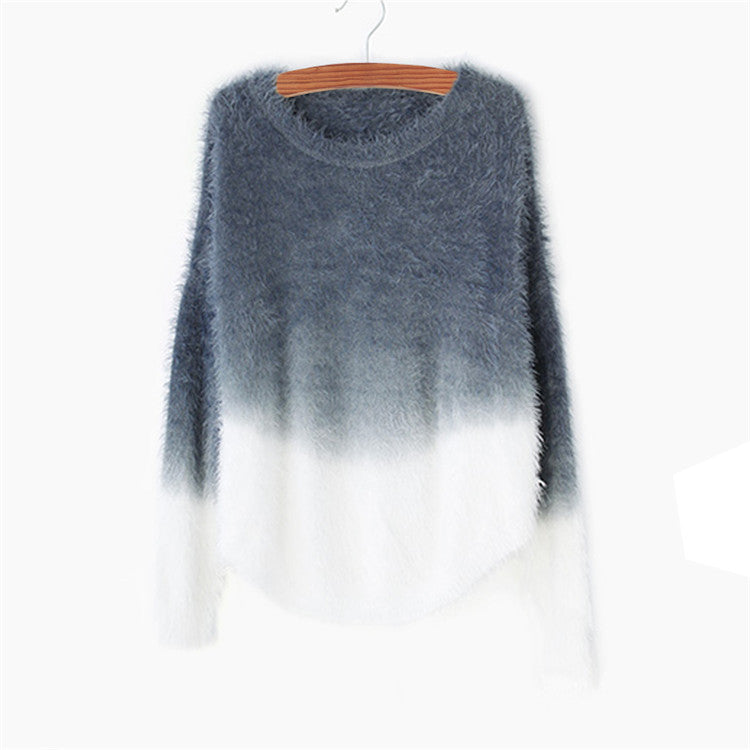 Ombre Sweater, Cashmere Sweater, Wool Sweater