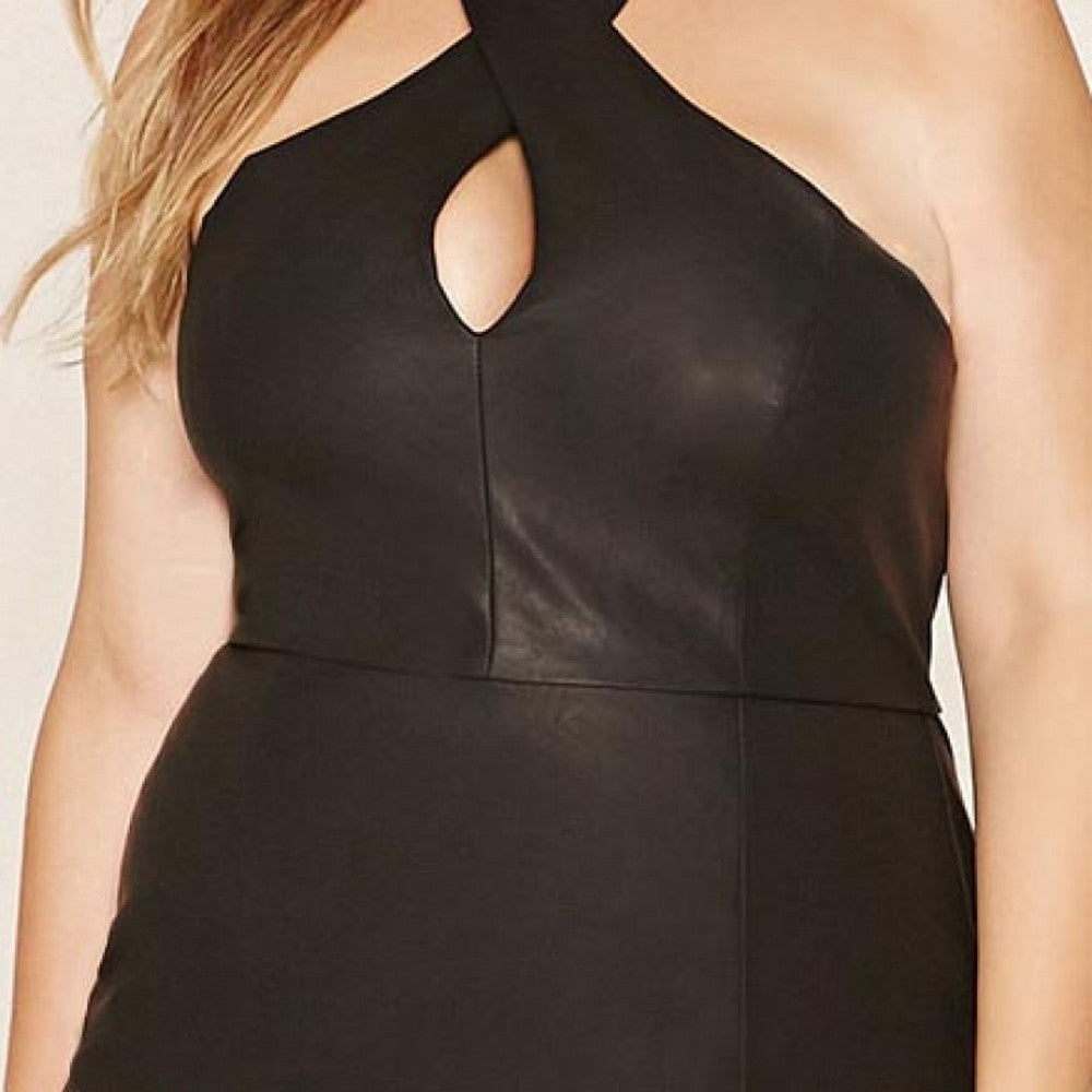 PU Leather Dress, Little Black Dress, Plus size dresses, date night dress, out on the town dress, Plus size black dress, kanndie