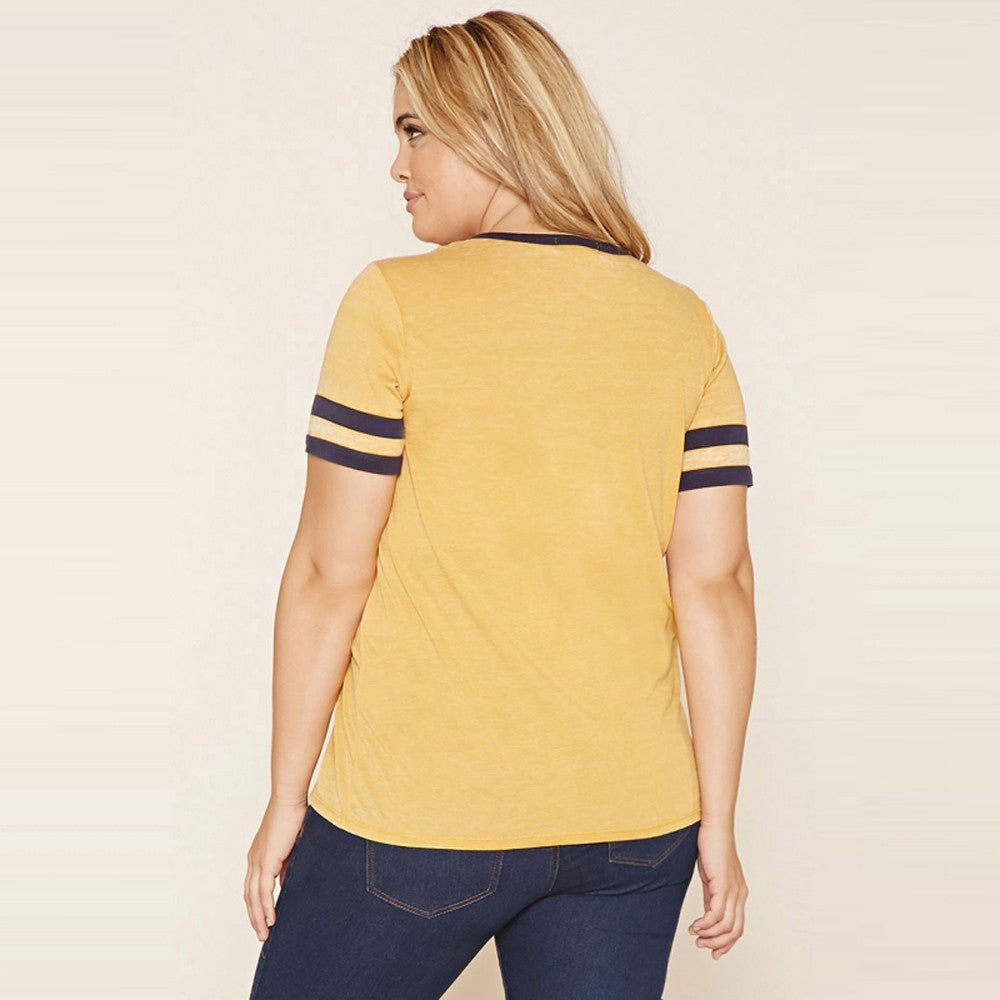 O-Neckline Cute Tee, Tops, Plus size tops, Plus size t-shirts