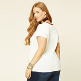 White T-Shirt, Plus size white t-shirt, plus size tee, Tops-kanndie