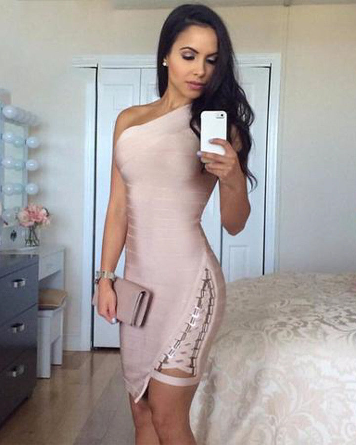 Metal Sequins Bandage Dress
