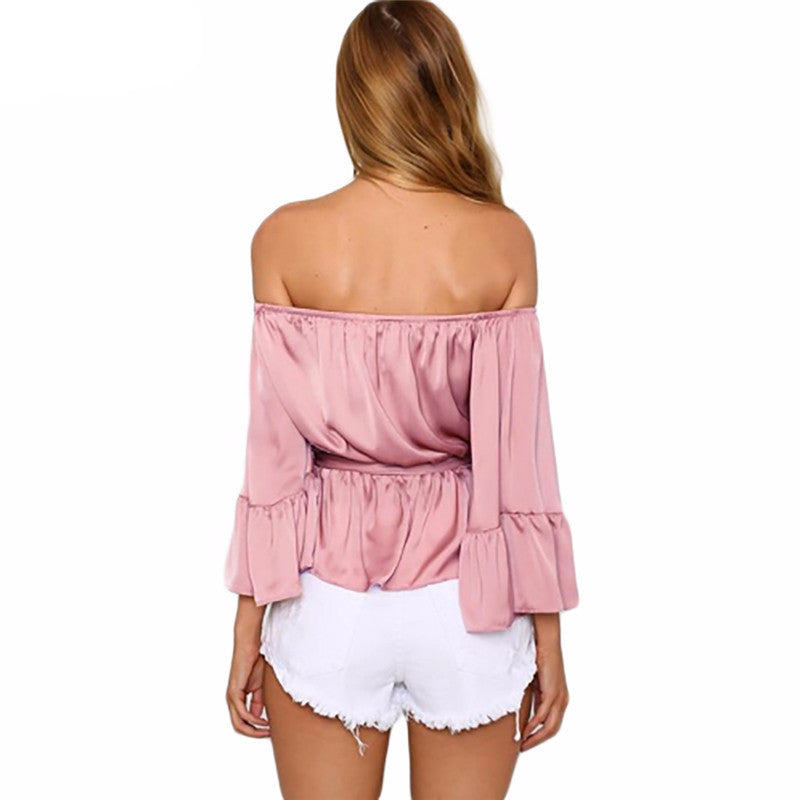 Off the shoulder blouse, Spring Collection, Satin off the shoulder blouse, Off the shoulder top, casual off the shoulder blouse
