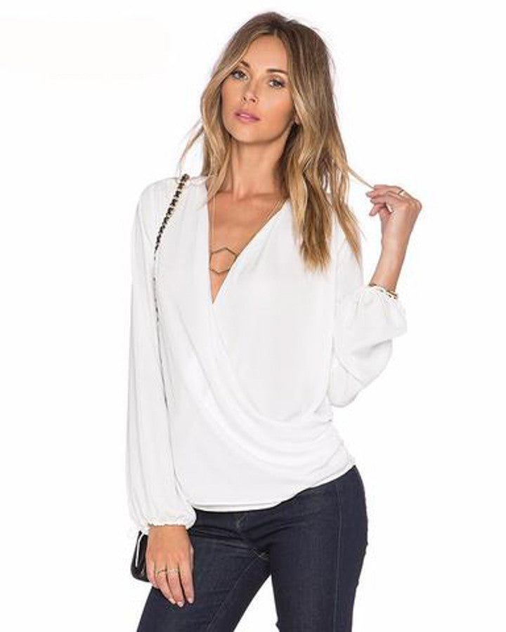 V-Neck Wrap Top