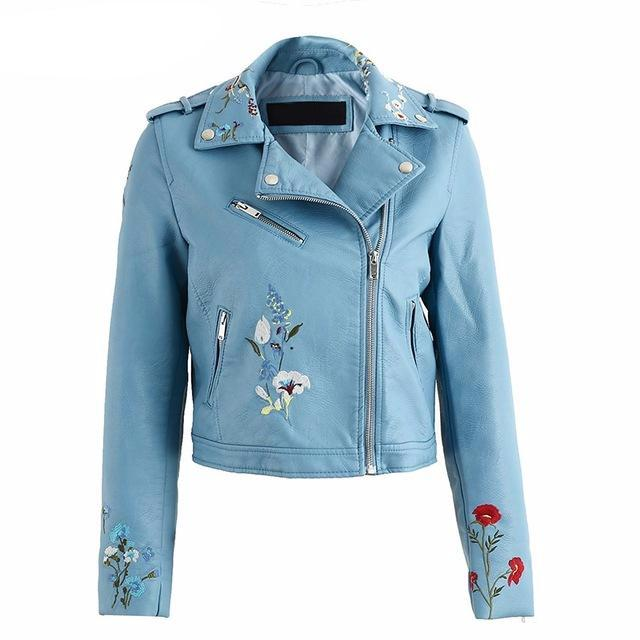 Floral-embroidered-leather-jacket-faux-leather-jacket-zippered-jacket