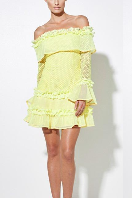 ruffles-lace-dress-off-the-shoulder-ruffled-dress-long-sleeve-bell-sleeve-lace-dress