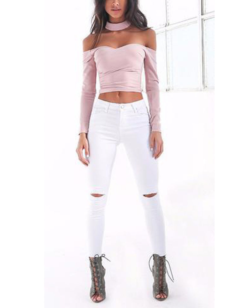 Summer-style-white-hole-ripped-jeans-Women-jeggings-cool-denim-high-waist-pants-capris-