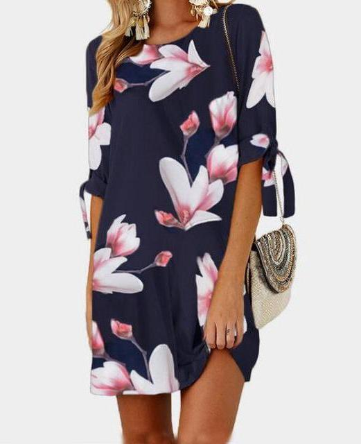 Floral-shift-dress-summer-dress-floral-dress-kanndie