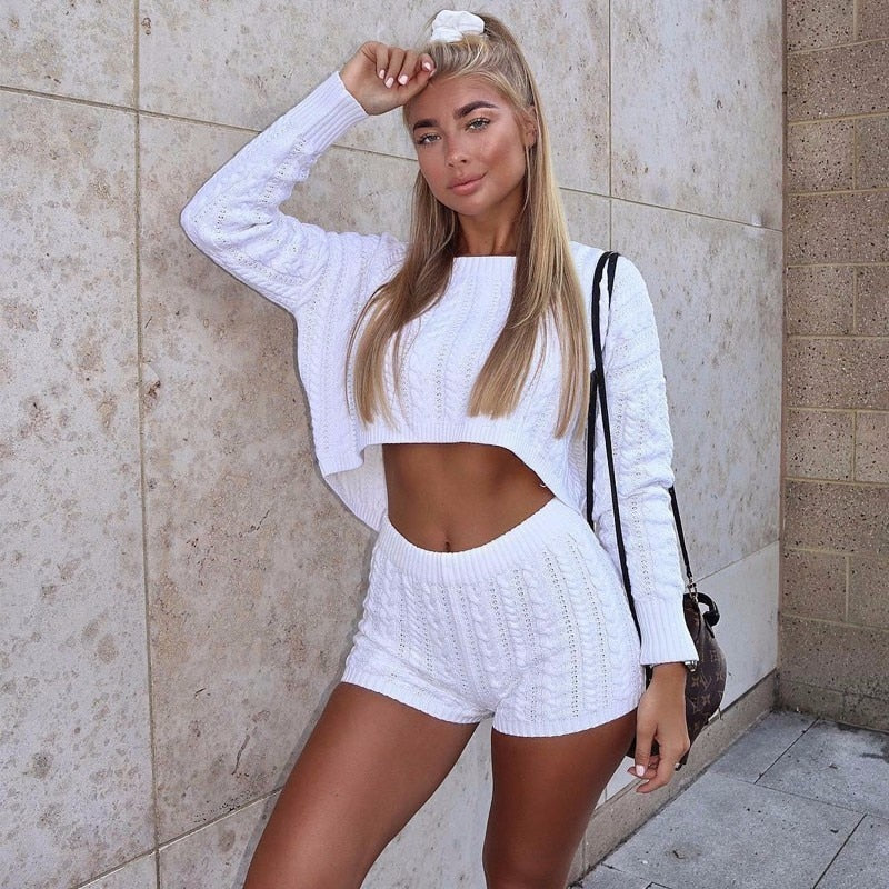 Sweat It Out Two Piece Short Set