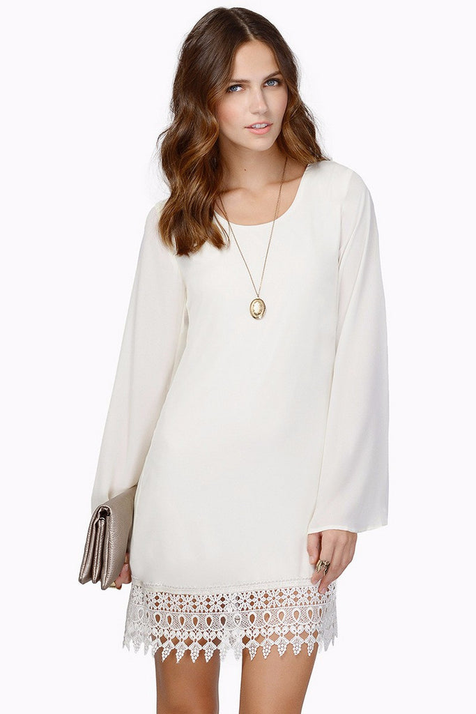 Long Sleeve Chiffon Casual Mini Dress